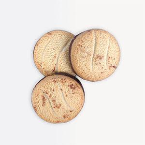Biscuit nappé au chocolat noir