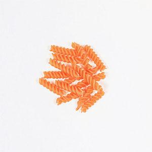 Pates torsades lentille corail