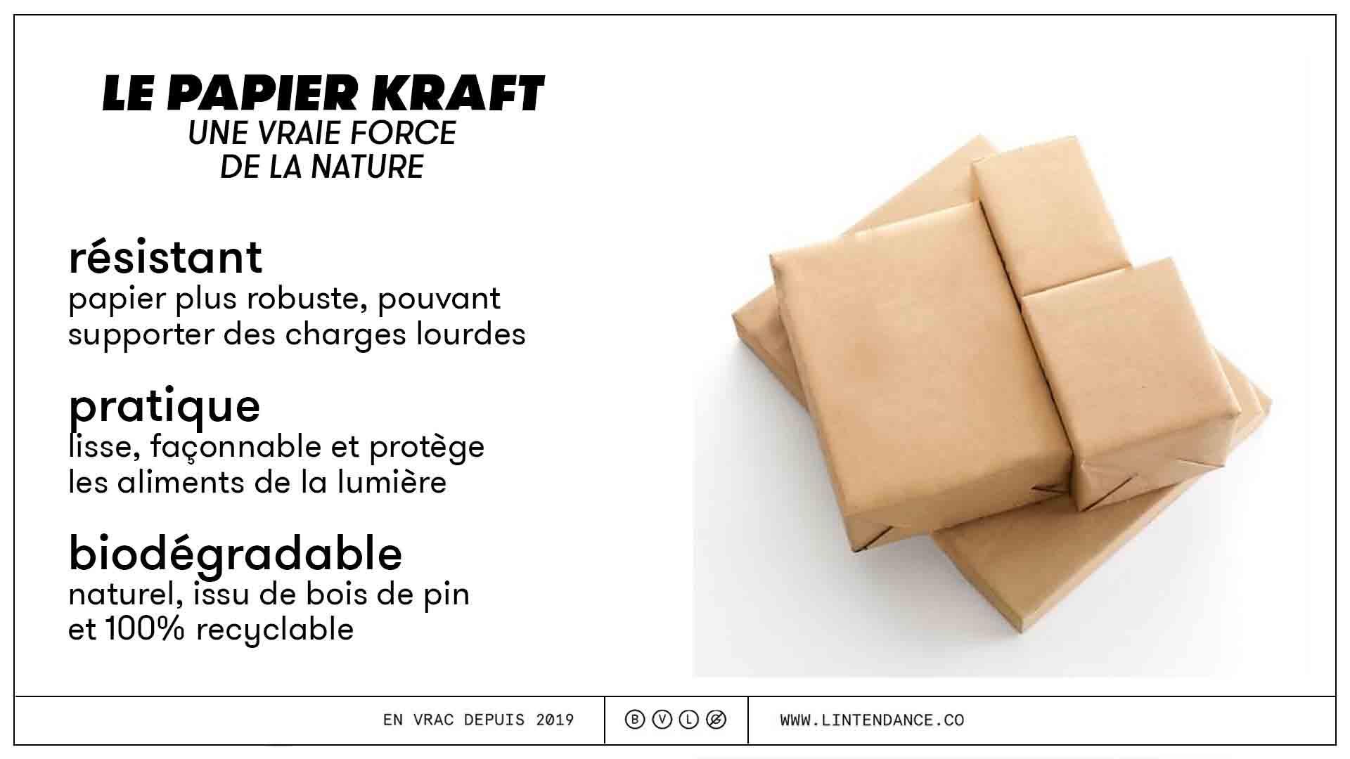 Papier kraft recyclable pratique résistant zéro déchet