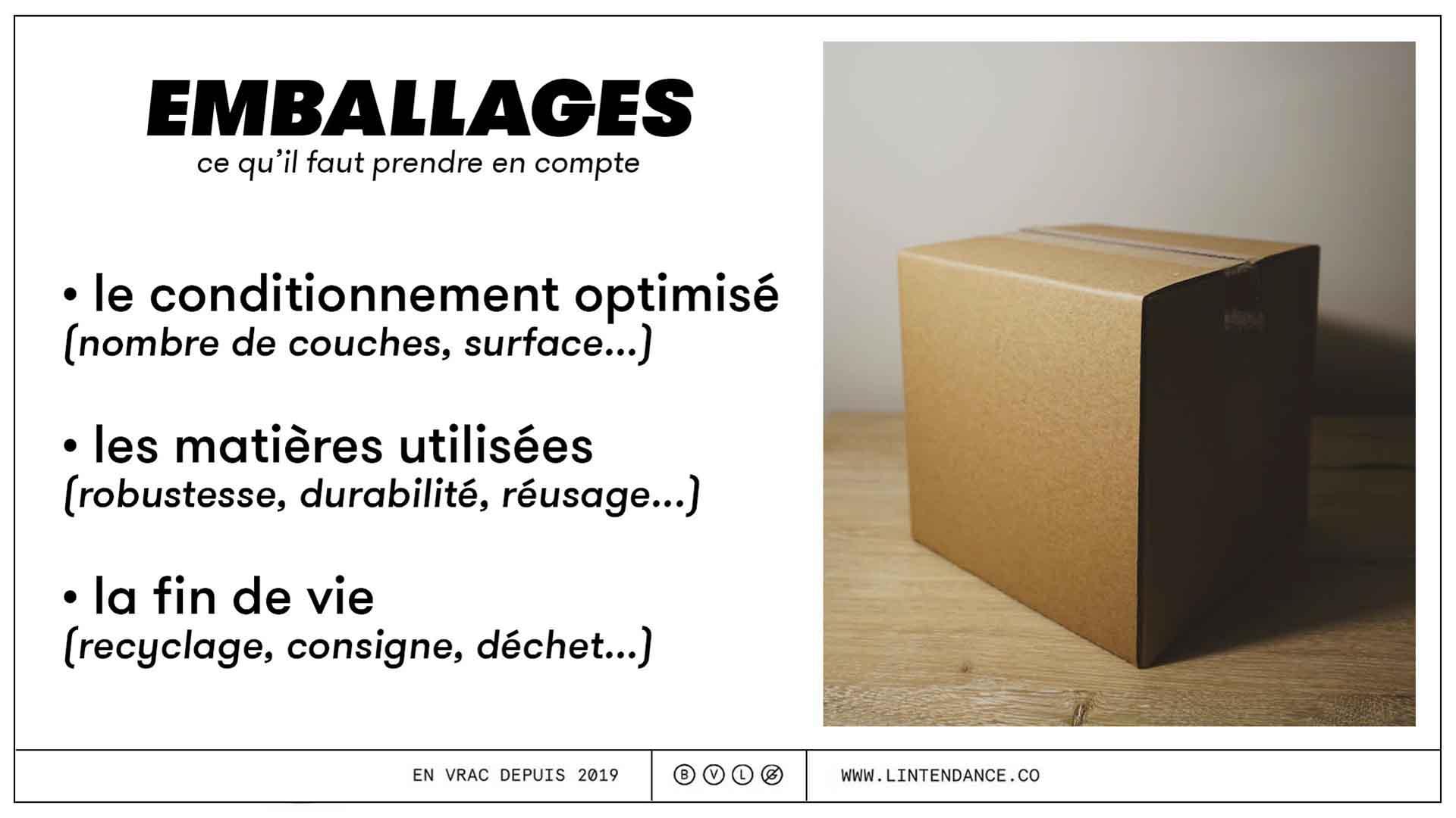 Courses en ligne courses en magasin impact écologique emballage