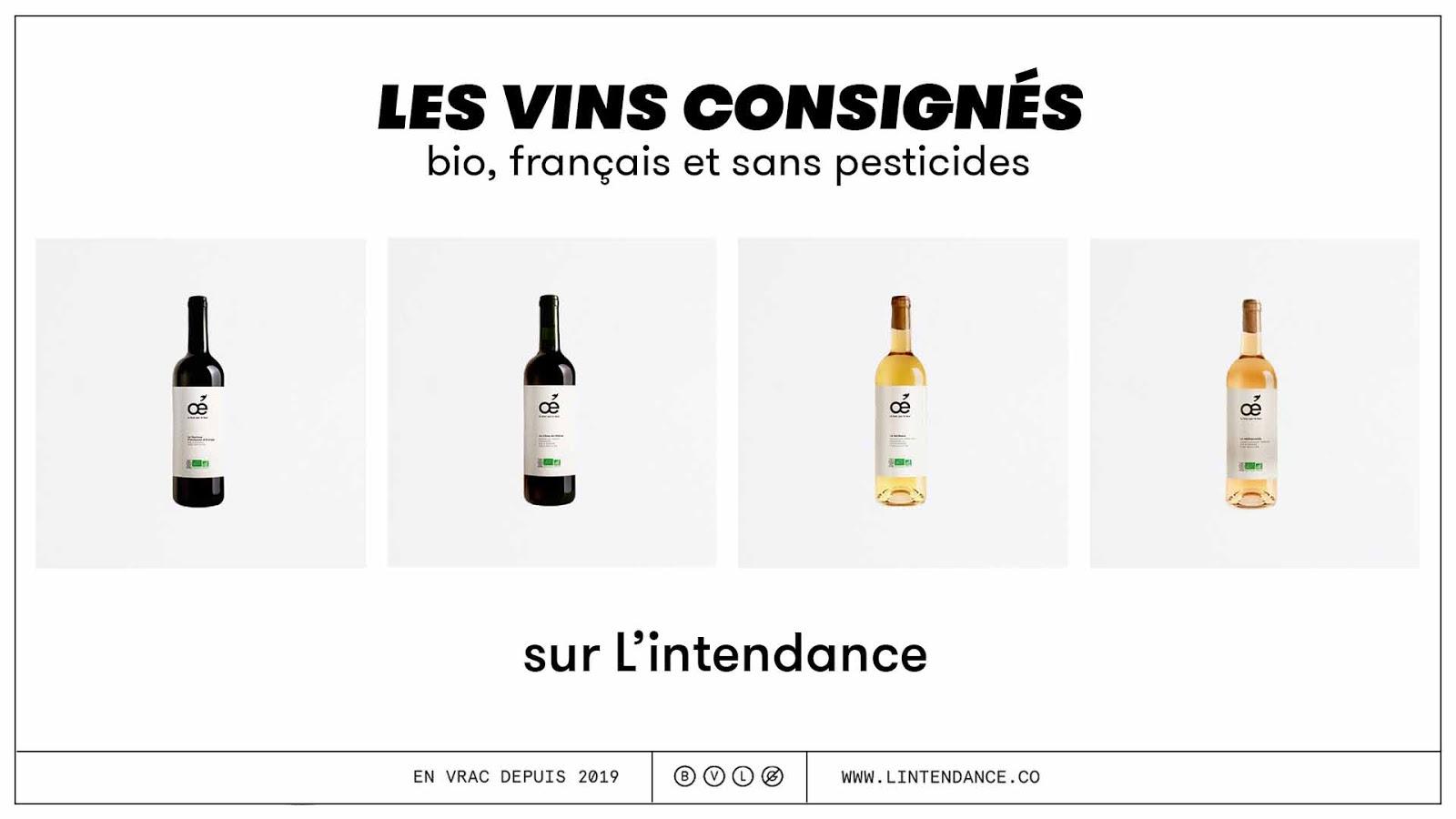 Vin en vrac consigné L'intendance