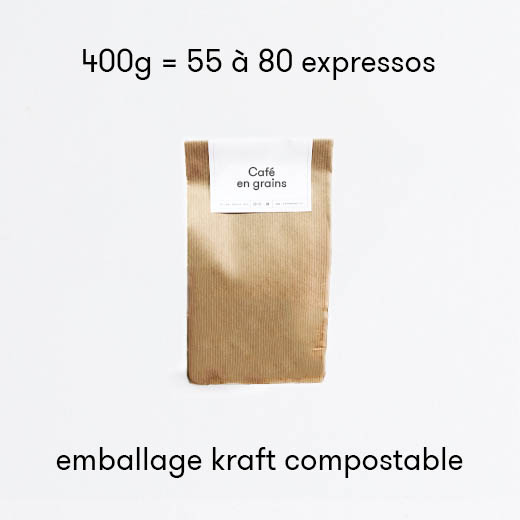 Café Pérou Décaféiné Typica 100% Arabica bio en grain