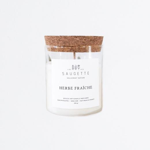 Bougie parfum herbe fraîche