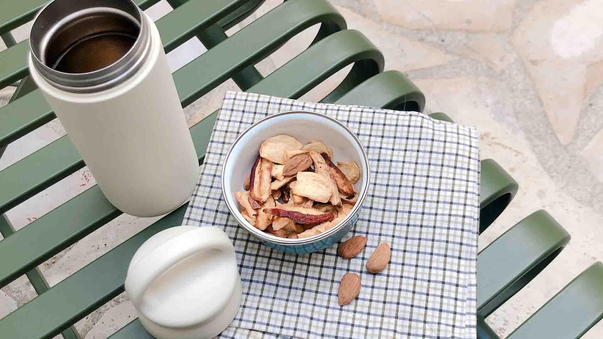 snack zéro déchet gourde réutilisable