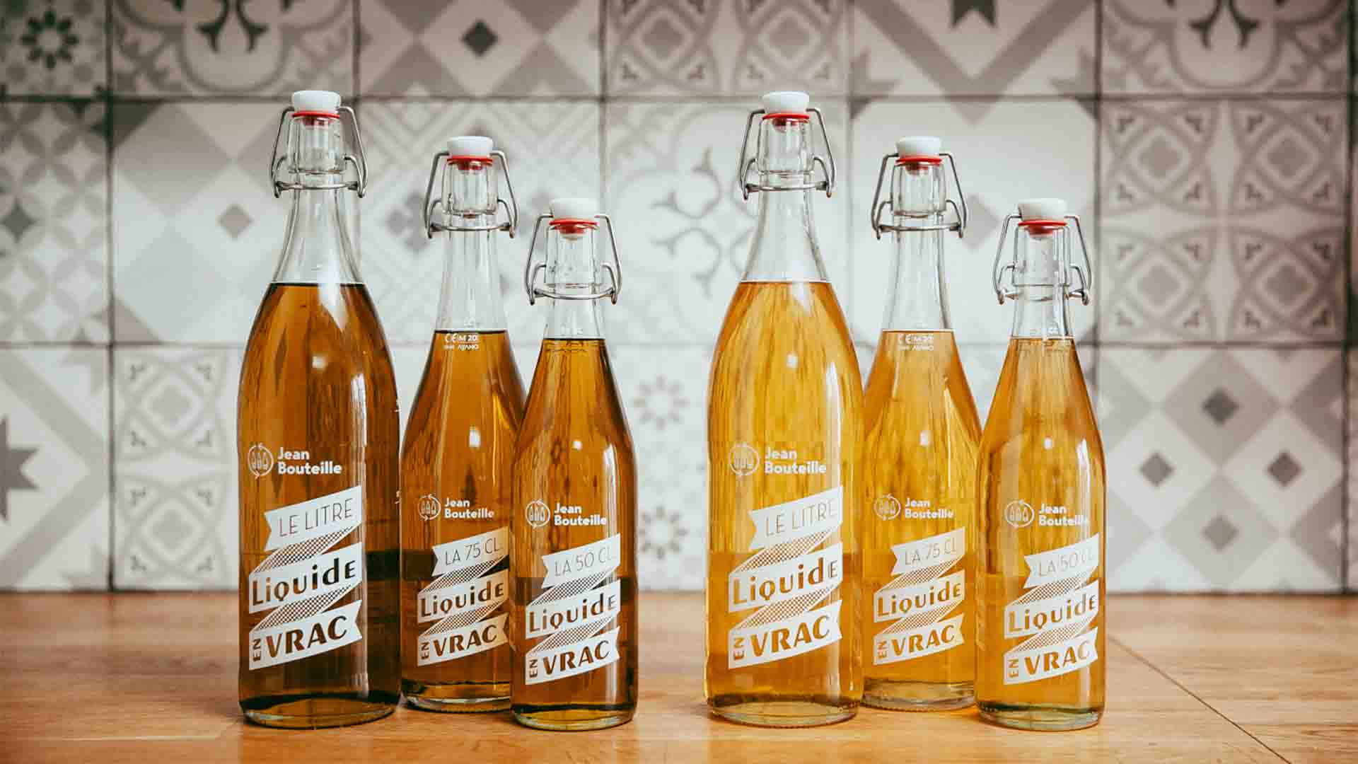 Jean Bouteille producteur français vrac liquide bouteille consignée