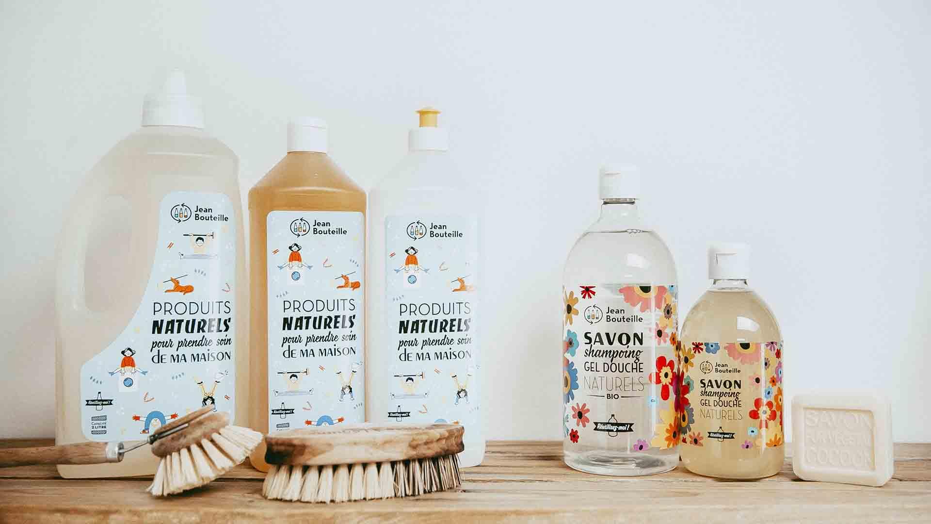 Jean Bouteille producteur vrac lessive liquide bouteille consignée