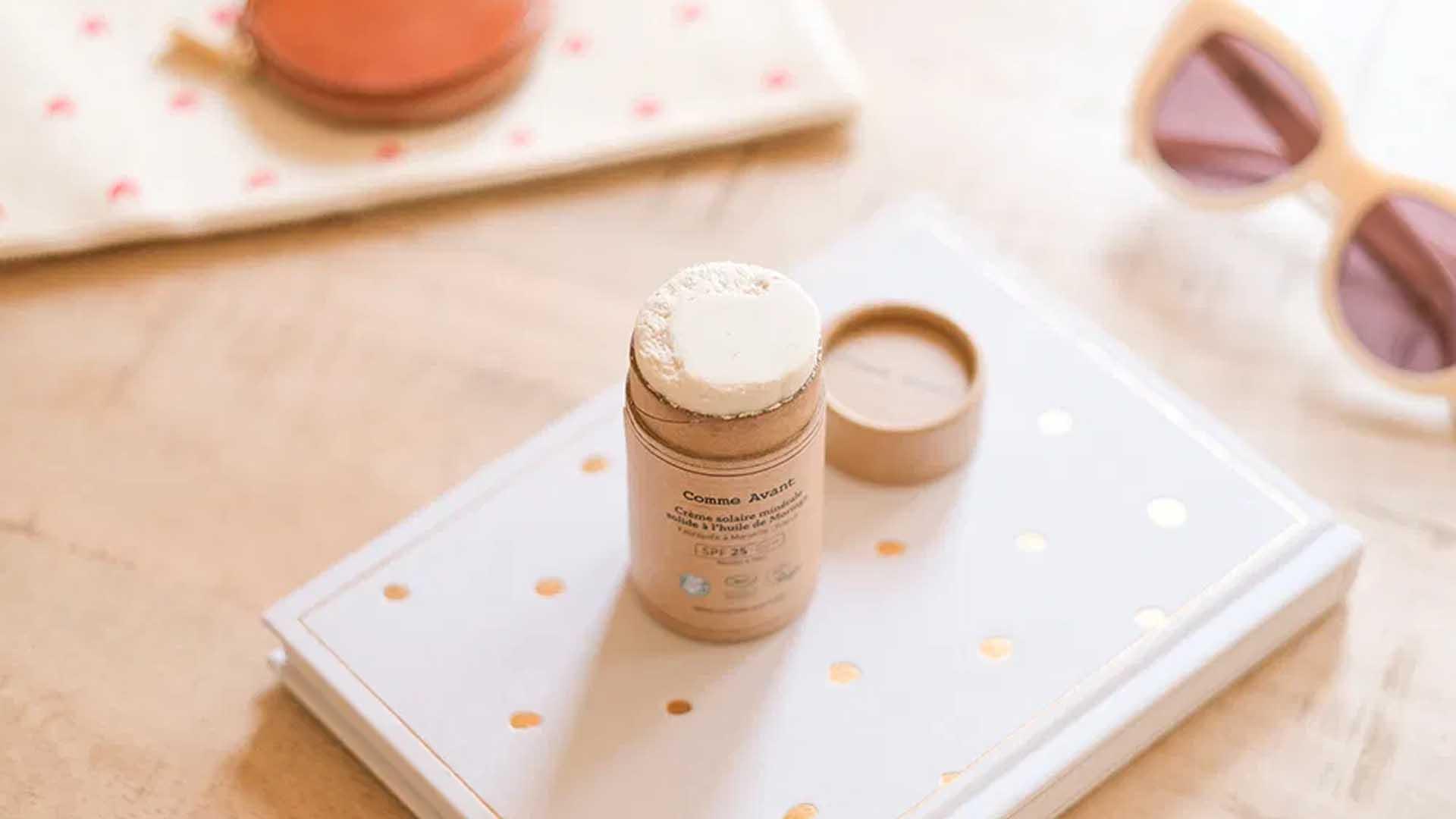 crème solaire stick emballage carton