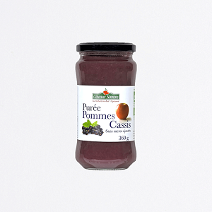 Compote pommes cassis bio