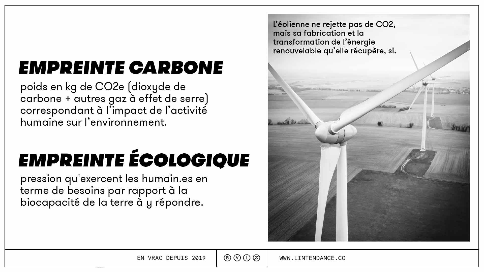 Calcul empreinte carbone définition environnement éolienne énergie