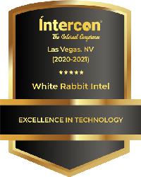 Dark Grey and gold Intercon shield badge award