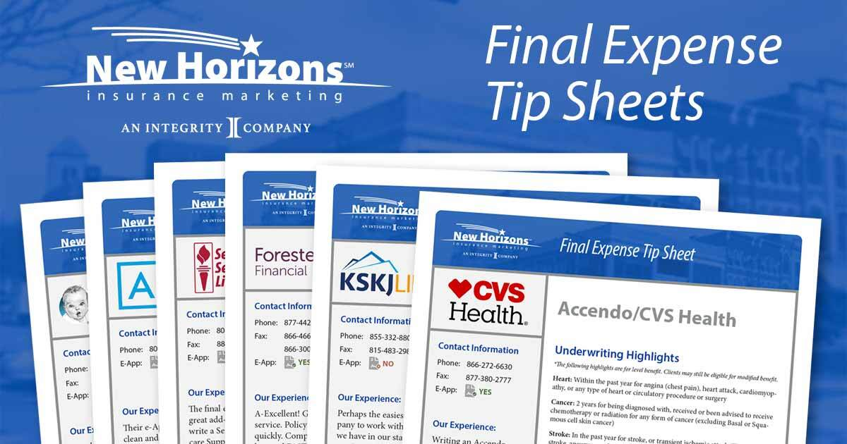 Final Expense Tip Sheets Now Available for Download