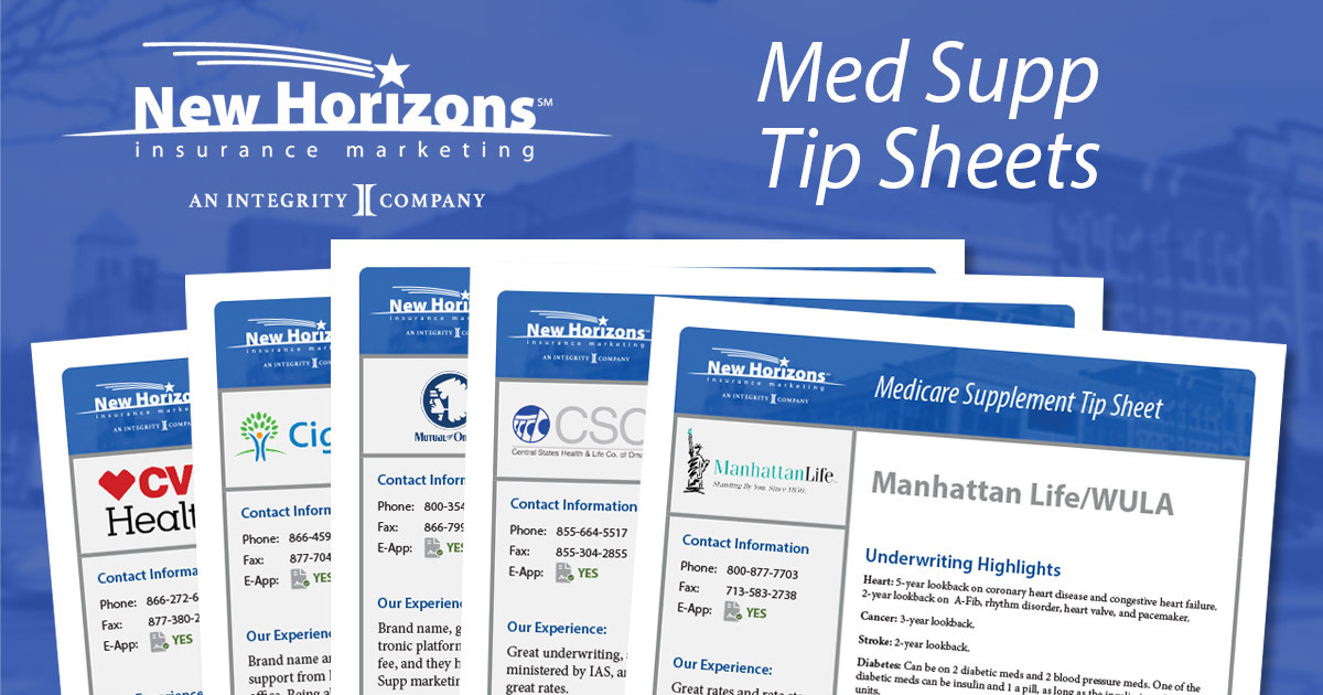 The Medicare Supplement Tip Sheets Are Here