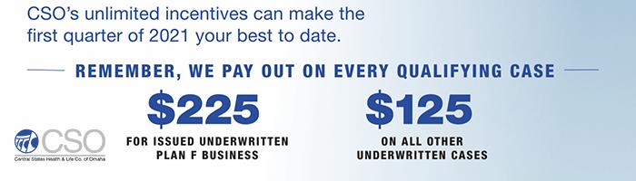 CSO Q1 2021 Medicare Supplement Cash Bonus