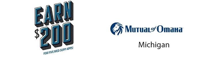 Mutual of Omaha Cash Bonus for 5 Michigan Medicare Supplements