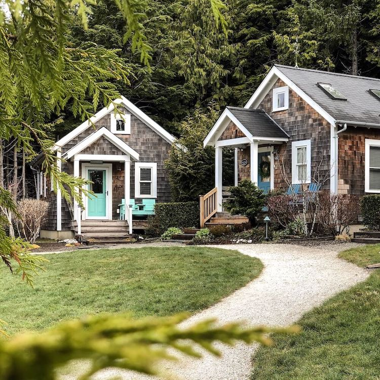 Two small homes in a community