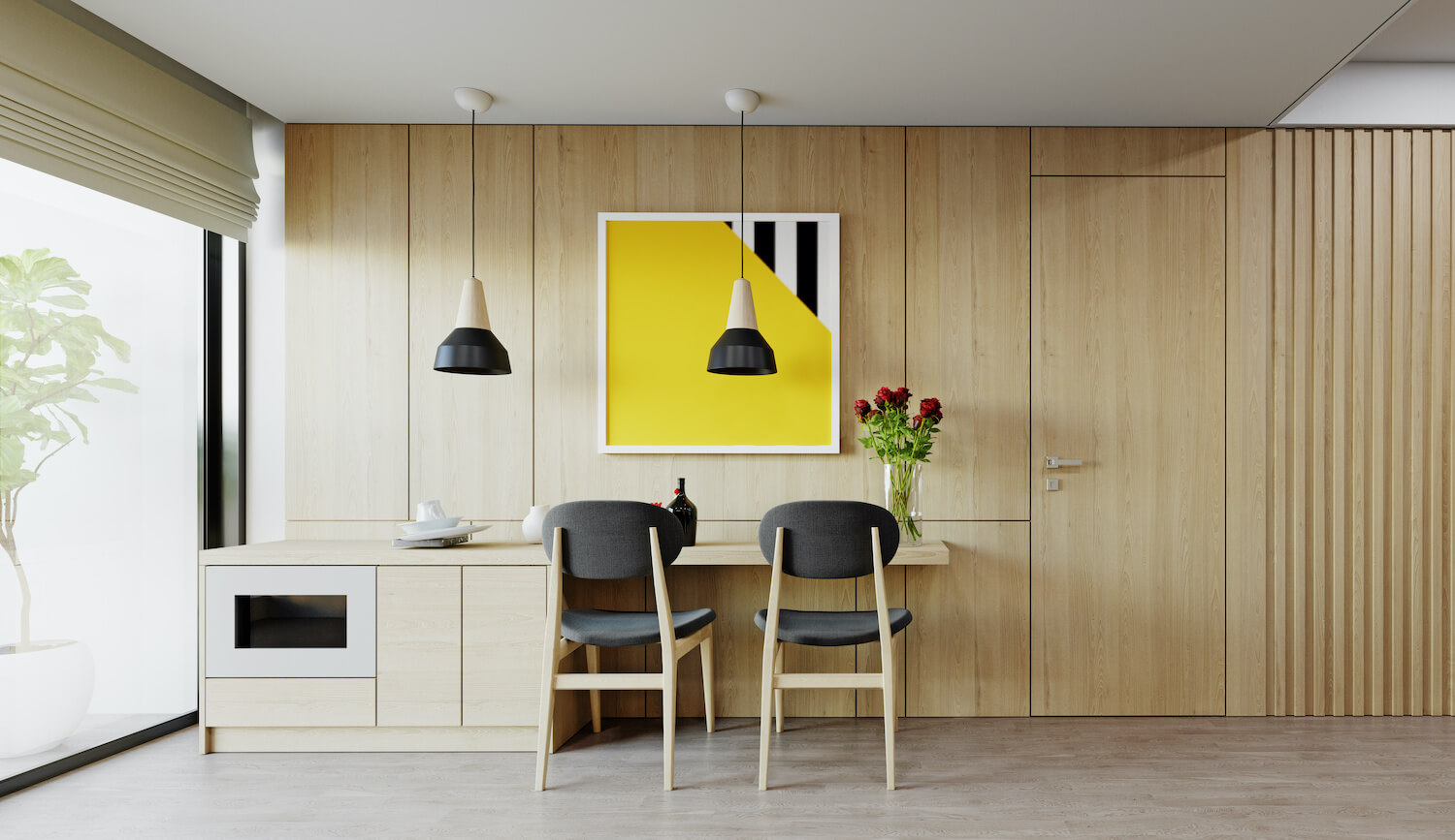 Modern Small House Dining Room
