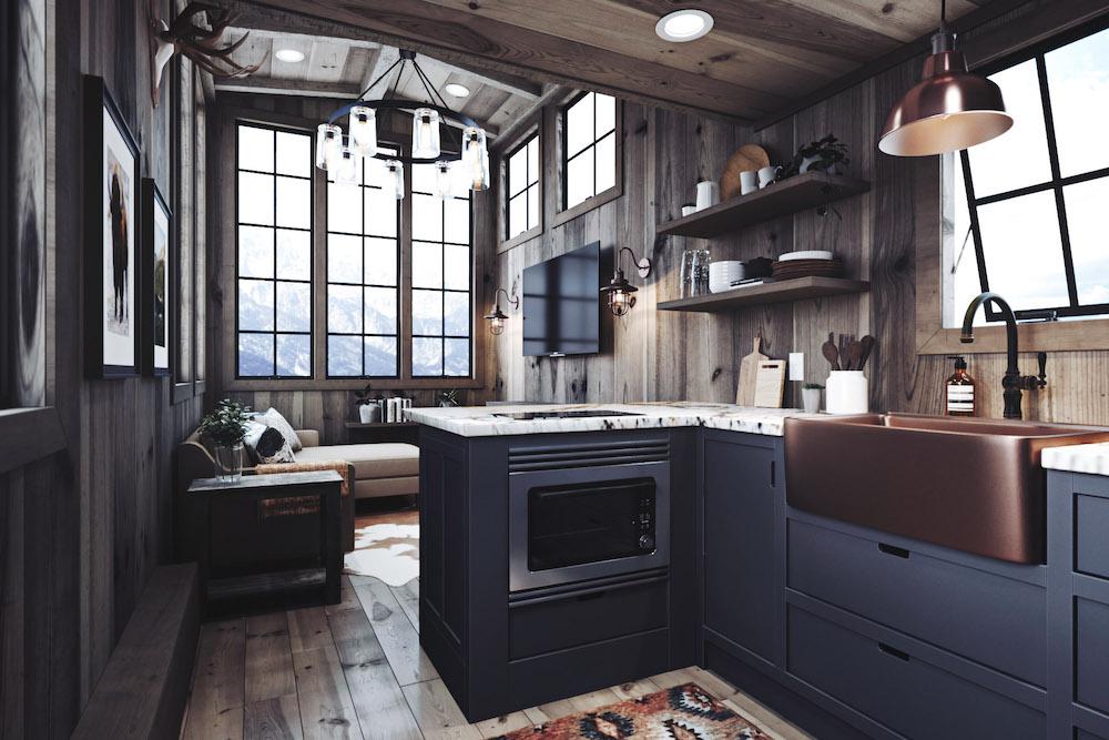 Rustic Tiny House Interior