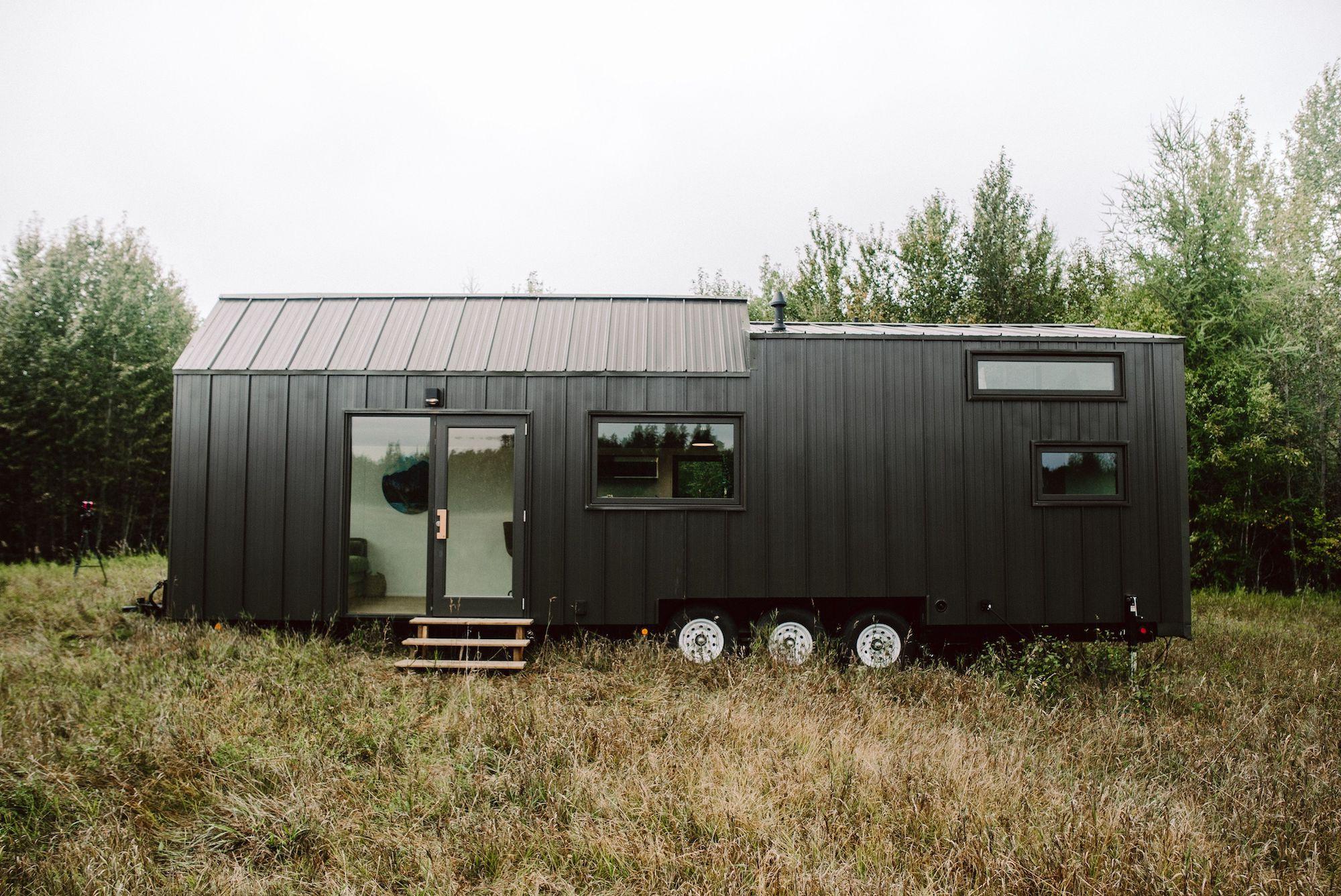 Exterior of Tiny Home - all black