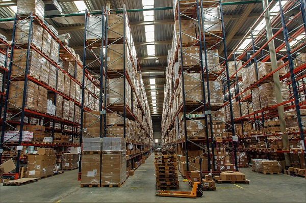 Amazon Suspends Nonessential Shipments to Fulfillment Warehouses.jpg, warehouse with boxes