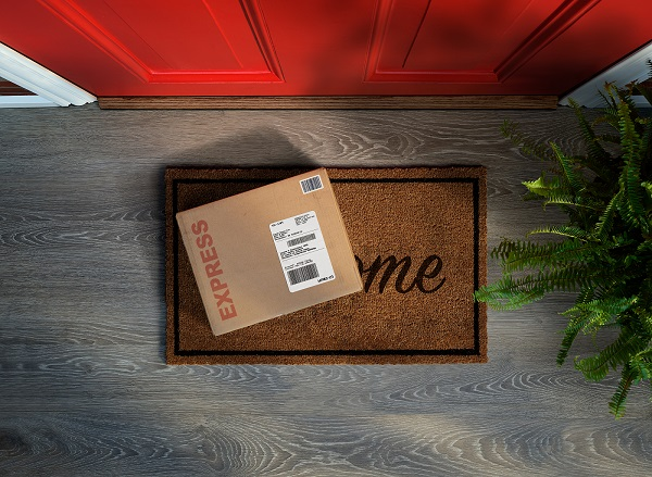 Expedited delivery on doorstep