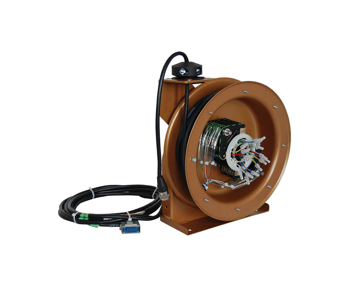 Rewind spring cable reel