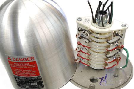 dome aluminum slip ring cover