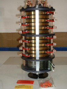 Slip ring with divider for communications and power