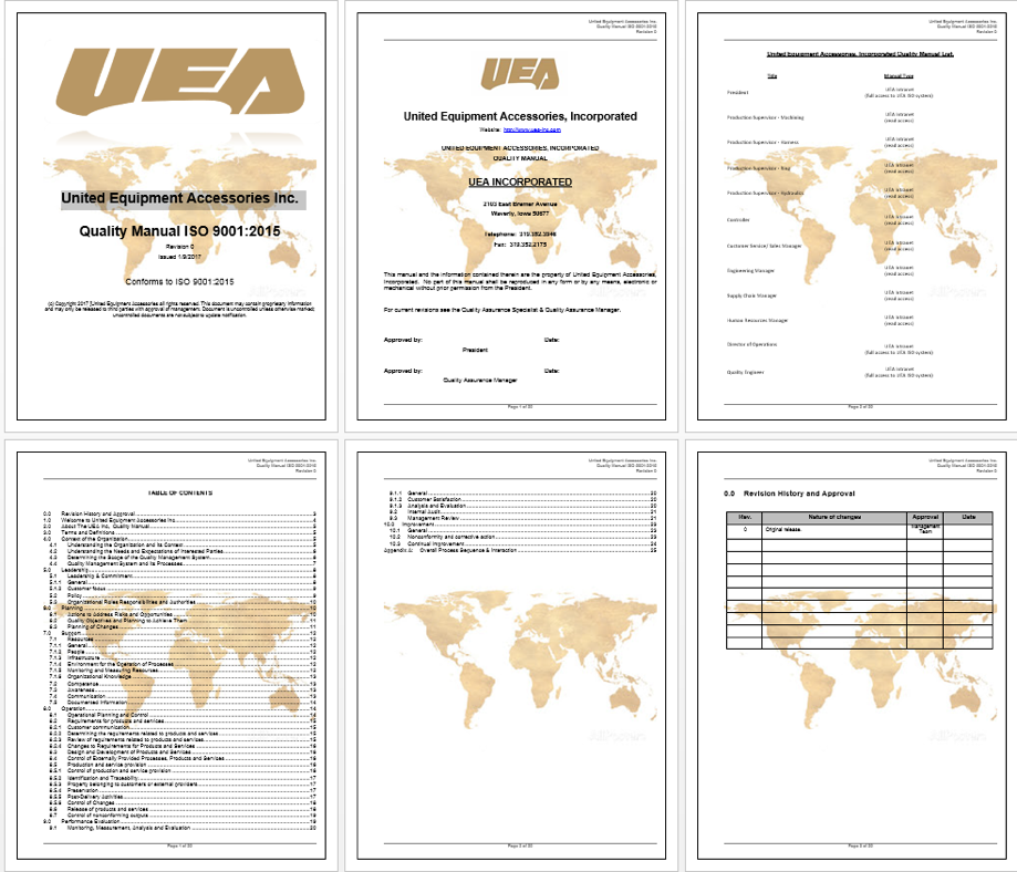 UEA Quality Manual