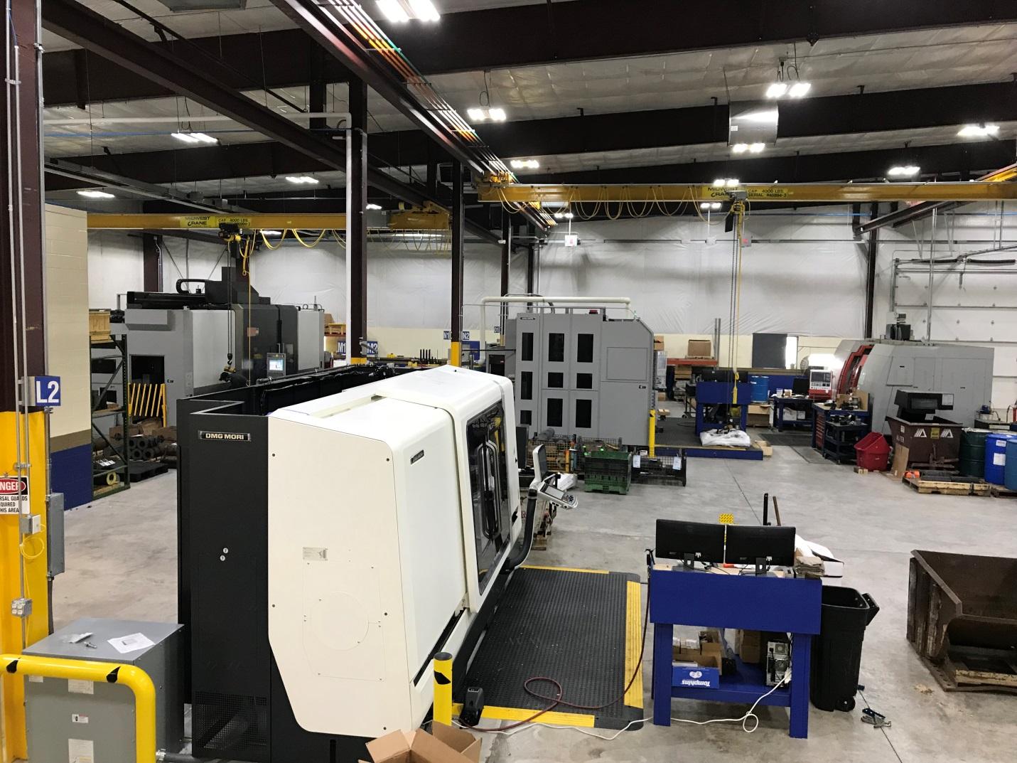 UEA Hydraulic Swivel Machining Area