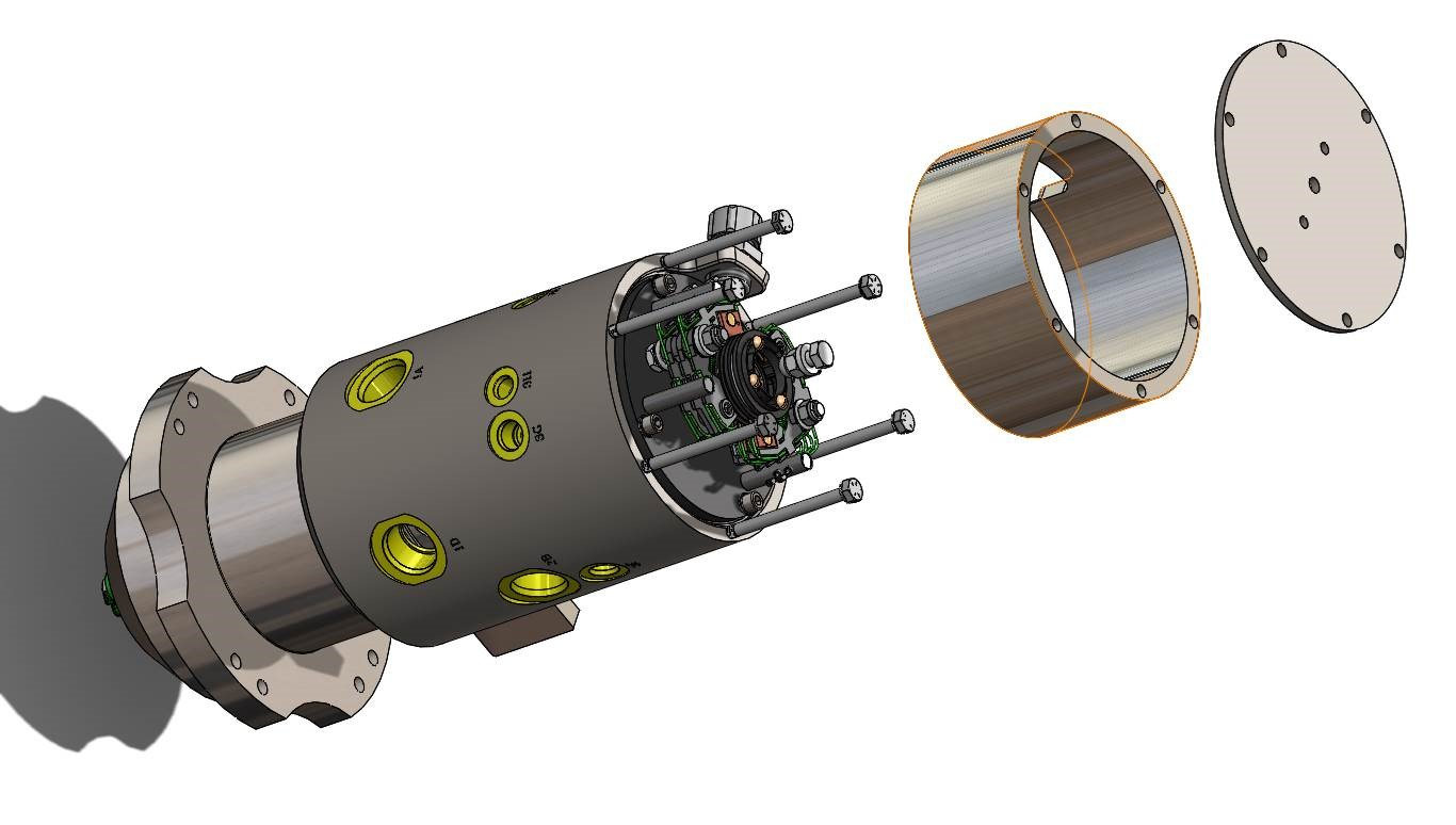 Forestry combined slip ring and rotary union