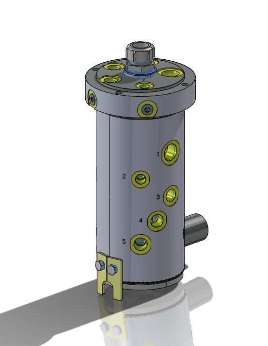 5 port hydraulic rotary union