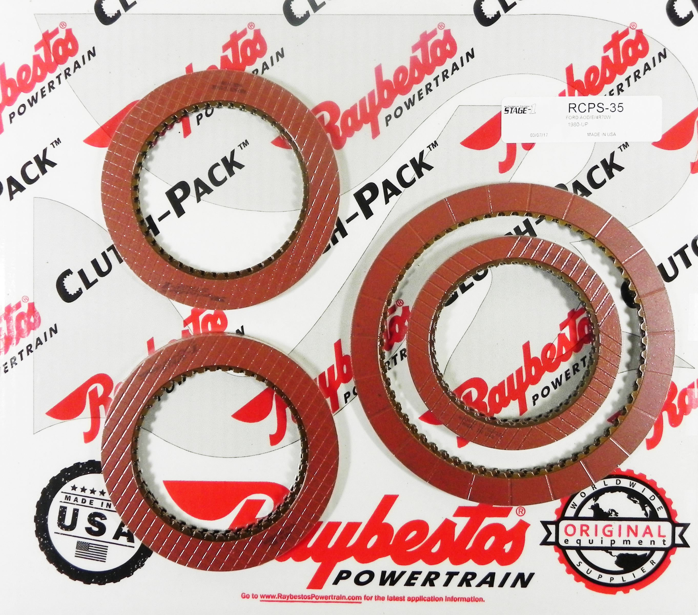 AODE, 4R70W  Stage-1 Friction Clutch Pack