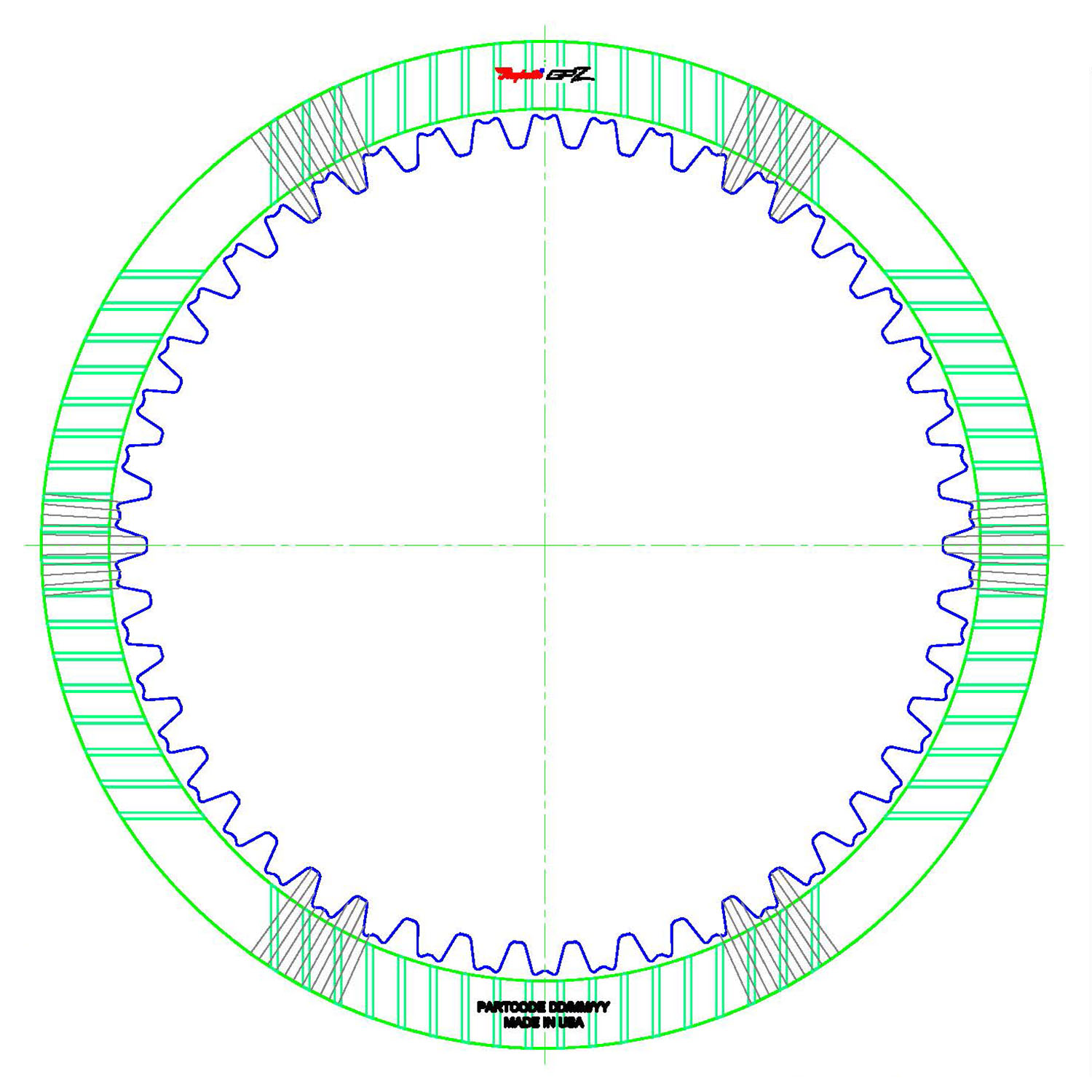 GPZ620 | 2005-ON Friction Clutch Plate GPZ B3 Clutch Double Sided, ID Spline High Energy