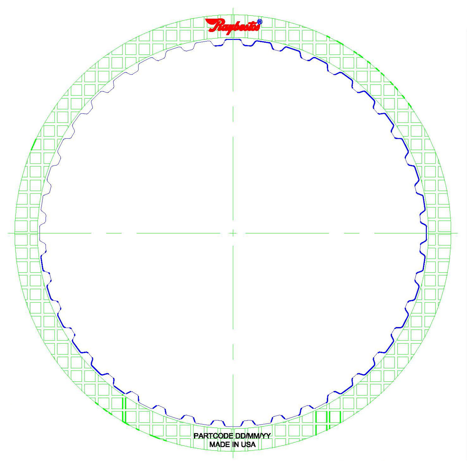 01J (CVT), 0AW (CVT) High Energy Friction Clutch Plate