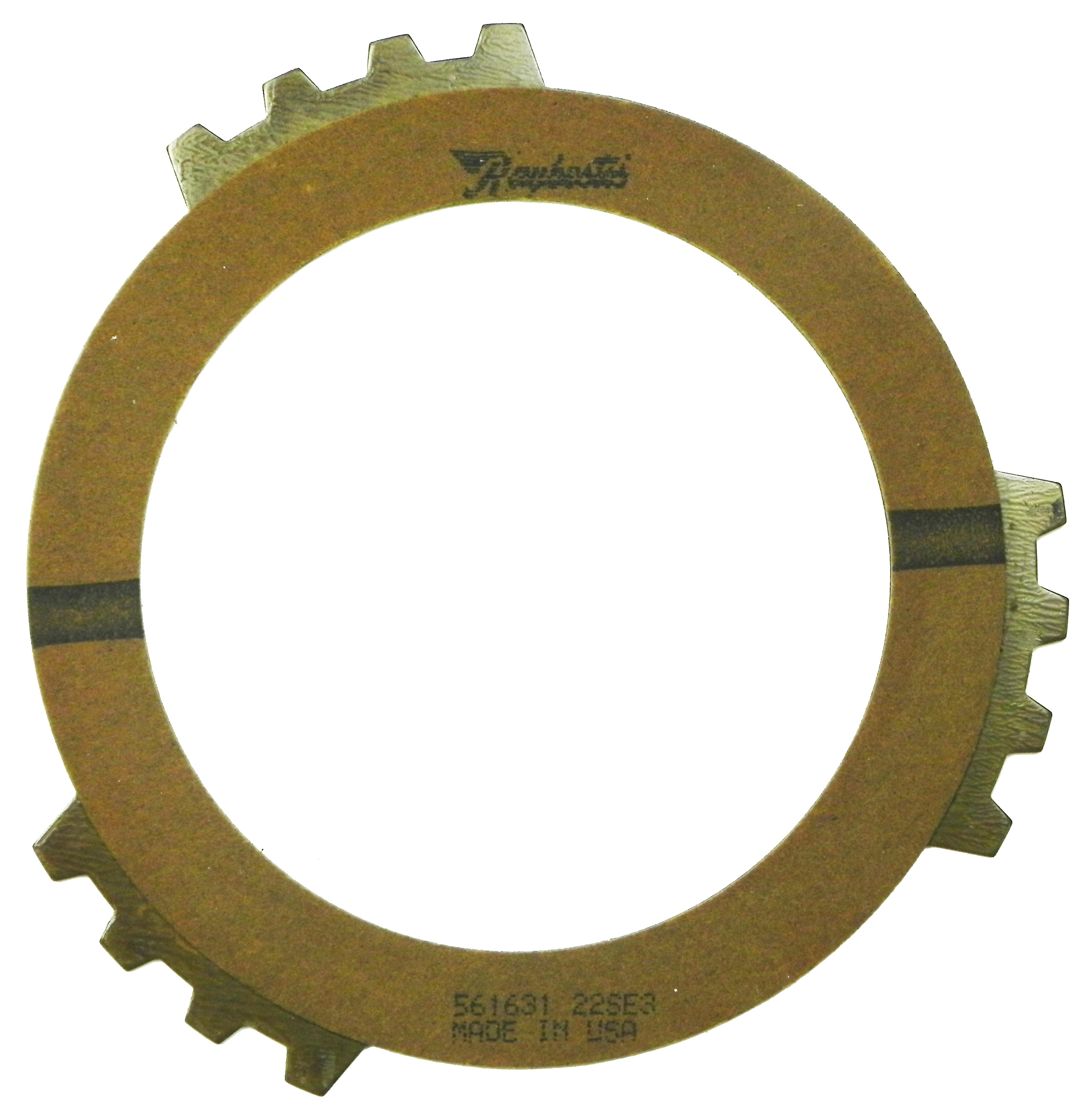 R561631 | 1983-1988 Friction Clutch Plate High Energy 3rd (4T60) Olive, Single Sided, OD Spline High Energy