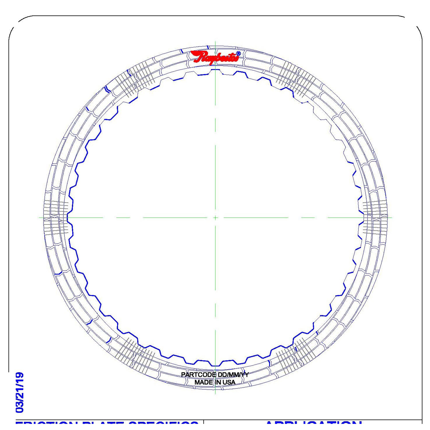 RH558562 | 2012-ON Friction Clutch Plate (HT) Hybrid Technology 1, 2, 3, 4 Forward (Waved) Proprietary High Energy (HT) GEN 2
