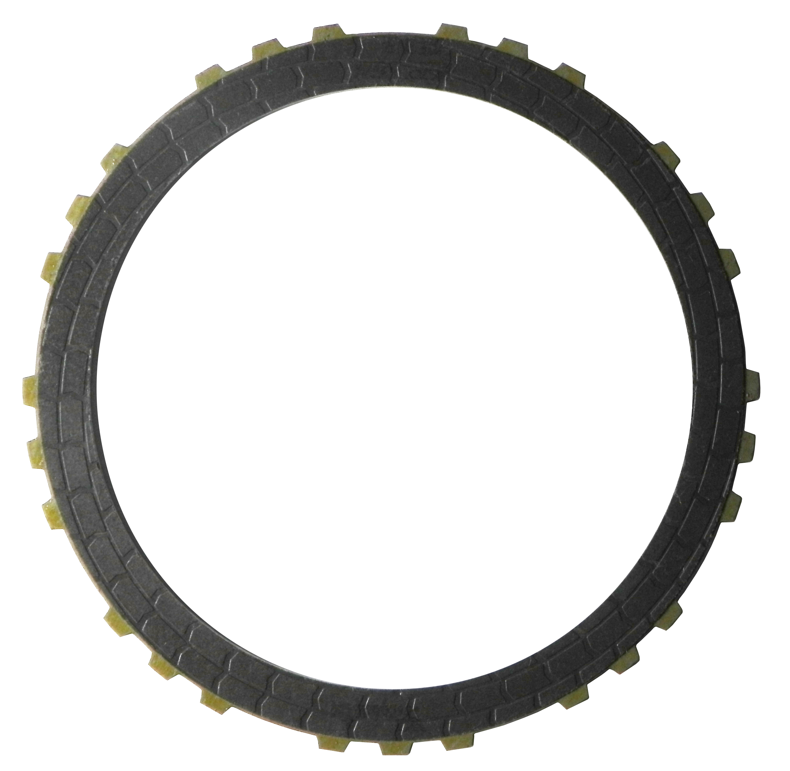 "RH560670 | 2009-ON Friction Clutch Plate (HT) Hybrid Technology 3, 5, Reverse Single Sided, (.090"") OD Spline Proprietary High Energy (HT)"