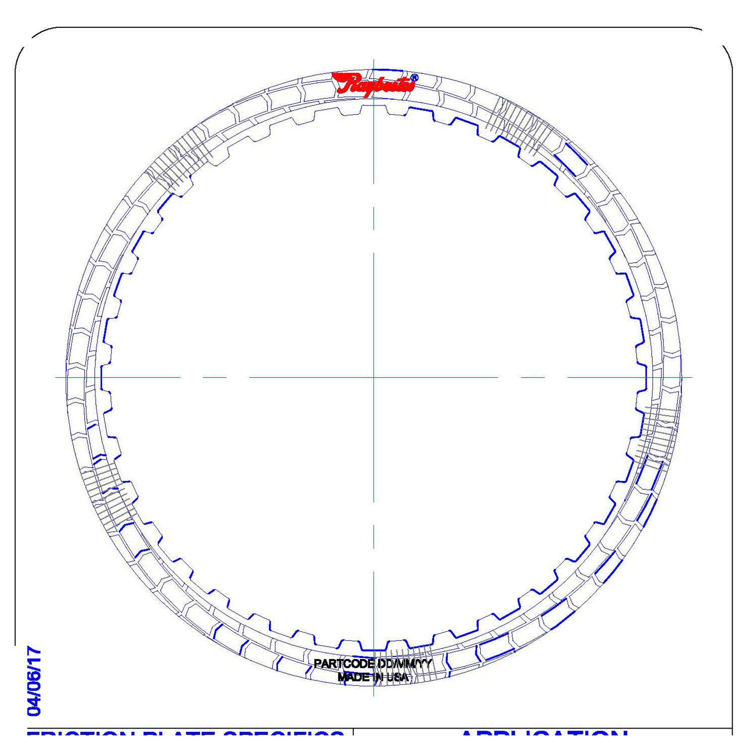 RH560705 | 2009-ON Friction Clutch Plate (HT) Hybrid Technology Low, Reverse Proprietary High Energy (HT) (Waved)