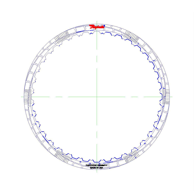 RH562207 | 2014-ON Friction Clutch Plate (HT) Hybrid Technology C3, Reverse (Waved)