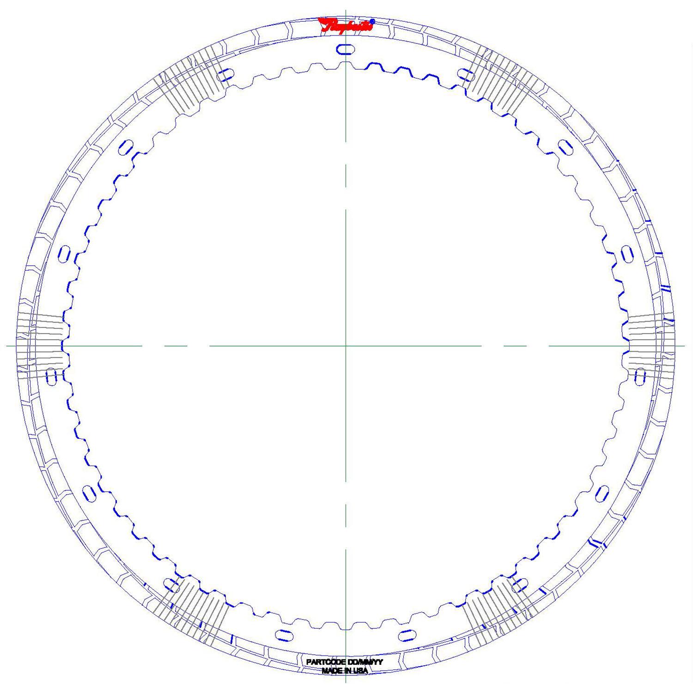 RH572703 | 2016-ON Friction Clutch Plate (HT) Hybrid Technology B2 (Waved) Proprietary High Energy (HT)
