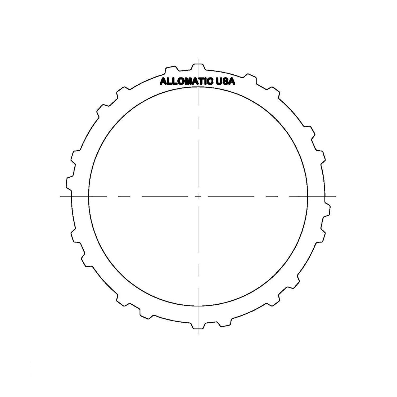 511021 | 1997-2008 Steel Clutch Plate Underdrive F4A41, F4A42