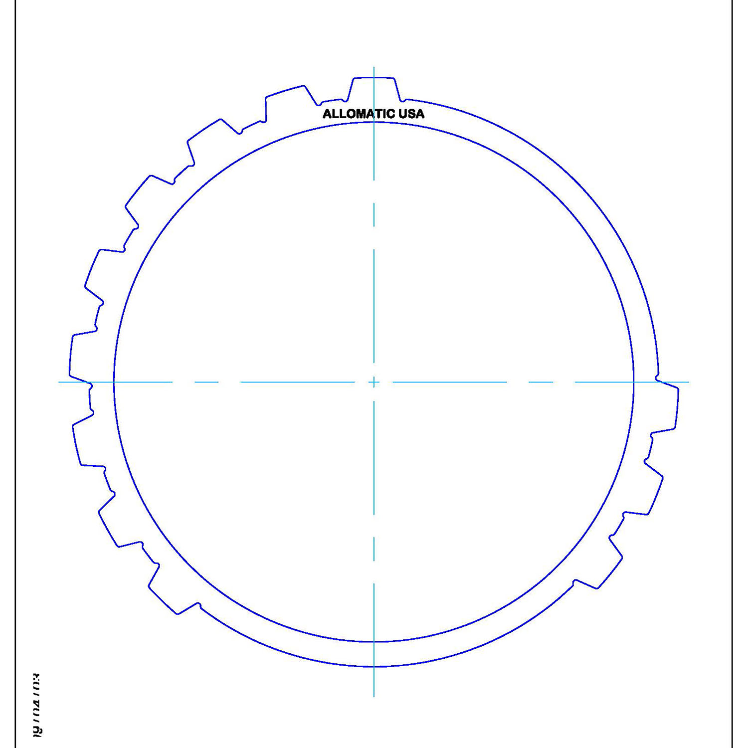 511111 | 1999-ON Steel Clutch Plate Low, Reverse