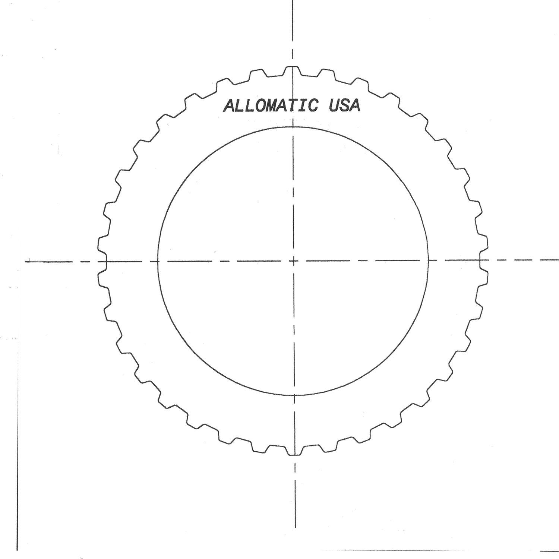 AOD, AODE, 4R70E, 4R70W, 4R75W Steel Clutch Plate