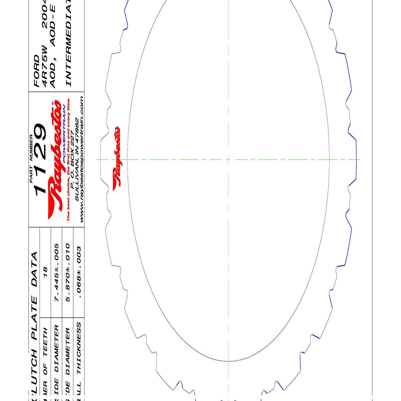 511129 | 1980-ON Steel Clutch Plate Intermediate