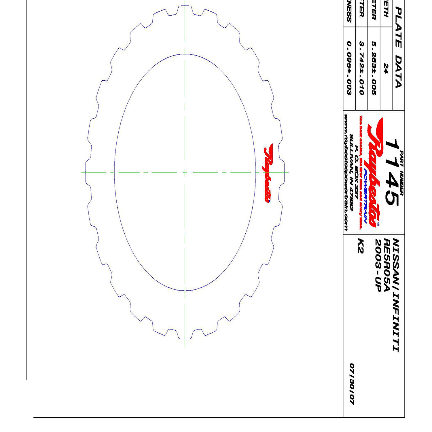 511145 | 2002-ON Steel Clutch Plate K2 High, Low Reverse