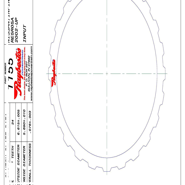 511155 | 2005-ON Steel Clutch Plate K1 Input