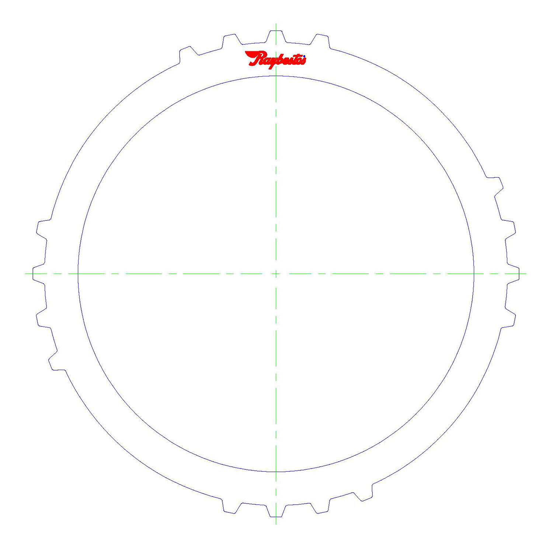 511177 | 2006-2009 Steel Clutch Plate Low, Reverse (Bottom) Pressure Clutch