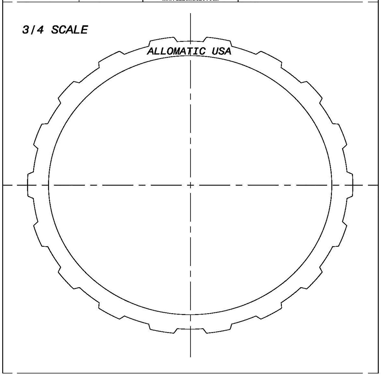 511233 | 1993-ON Steel Clutch Plate Low, Reverse