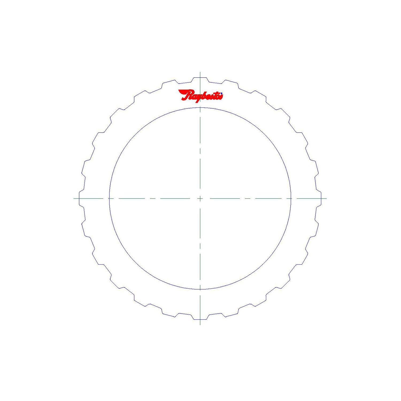 511260 | 2004-ON Steel Clutch Plate E Clutch (4, 5, 6) 6HP19A/X, 6HP21/X