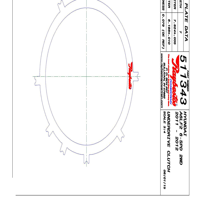 511343 | 2009-ON Steel Clutch Plate Underdrive